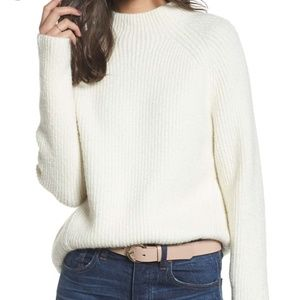 Madewell Northfield Mockneck in Antique Cream